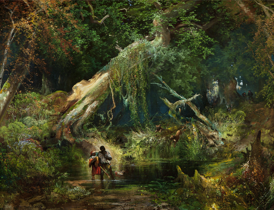 Image result for chasing slaves in the dismal swamp painting