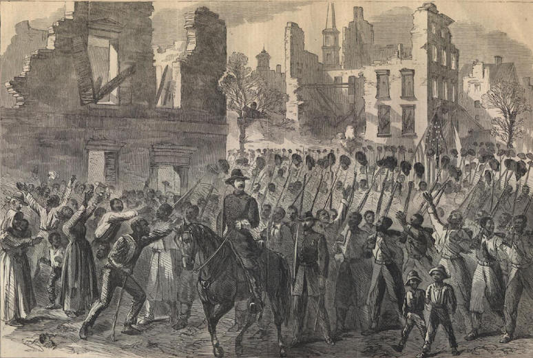 US Colored Troops enter Charleston