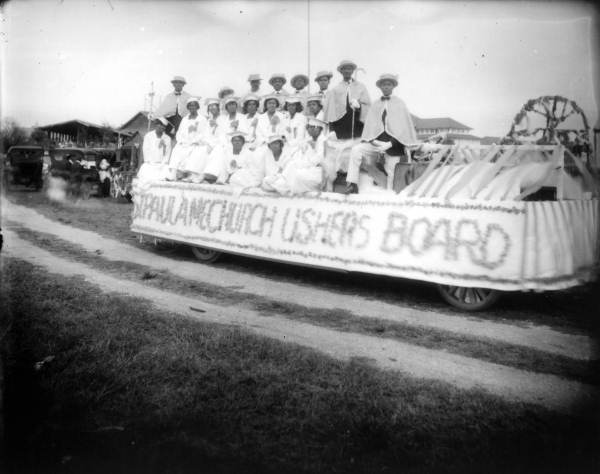 St. Paul A.M.E Church float- Lincolnville, Florida 1920s
