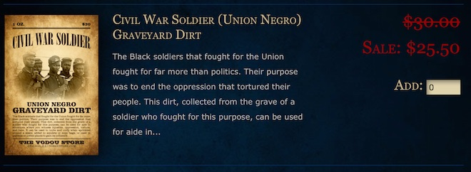 Dirt Union negro soldier vodou edit