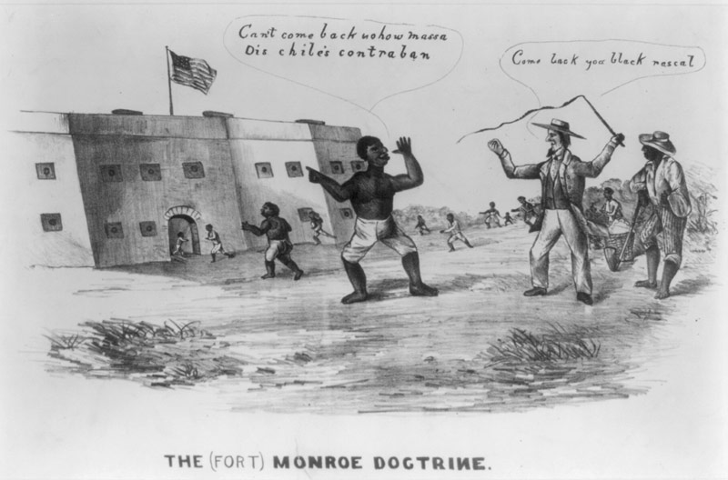 Fort Monroe Doctrine cartoon