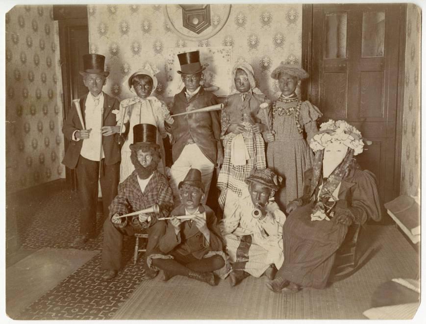 Philadelphia children in blackface