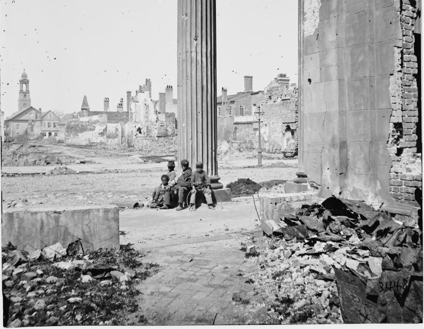 The Destruction of slavery ruins Charleston South Carolina