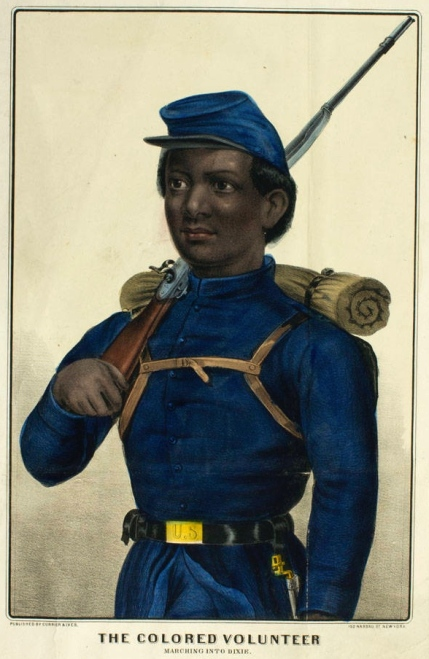 The Colored Volunteer Marching Into Dixie